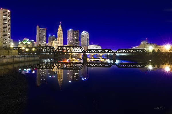 City Scape Photograph - Columbus - City Reflection by Shane Psaltis