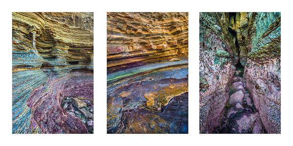 Photograph - Column Strata Cave Collage by Alexander Kunz