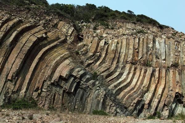 Basalt Columns Photograph - Columnar Basalt by Tim Lester/science Photo Library