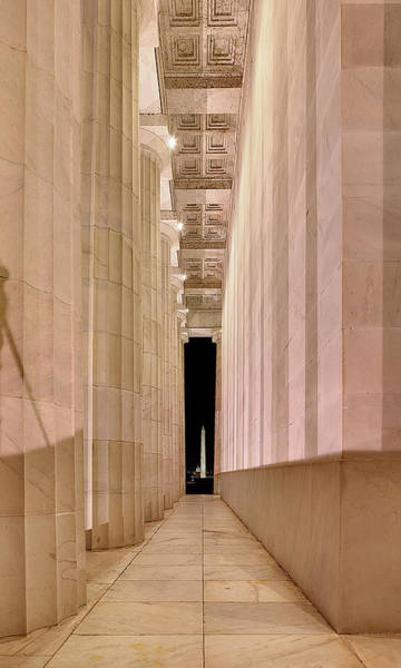 Photograph - Columns And Monuments by Metro DC Photography