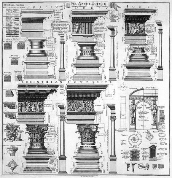 Drafting Photograph - Columns Arch Architectural Detail 1728 by Daniel Hagerman