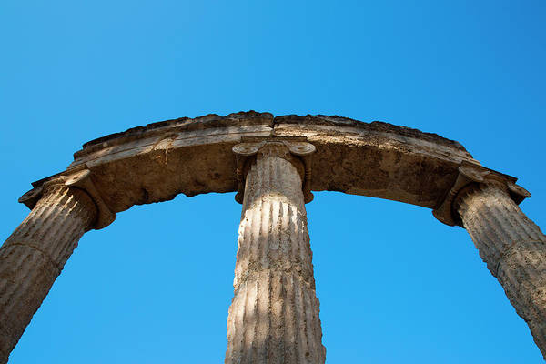 Ancient Greek Photograph - Columns At Ancient Olympia by Holger Leue