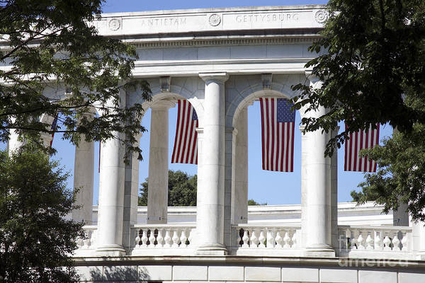 Photograph - Columns At The Amphitheatre At Arlington National Cemetery by William Kuta