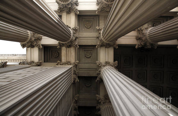Wall Art - Photograph - Columns At The National Archives In Washington Dc by William Kuta