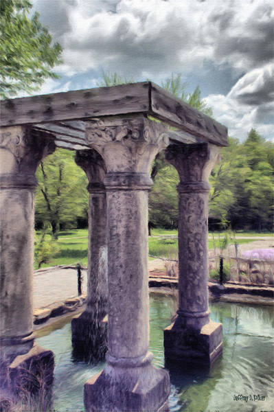 Wall Art - Painting - Columns In The Water by Jeffrey Kolker