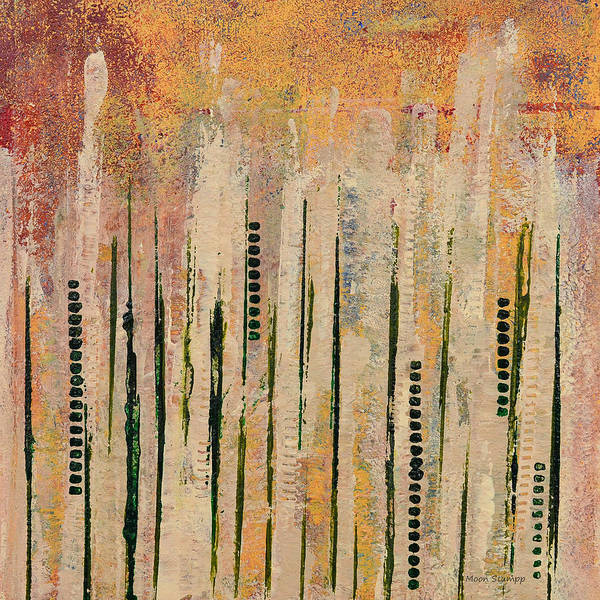 Fresh Paint Painting - Columns by Moon Stumpp