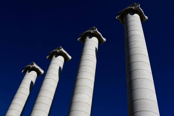 Photograph - Columns Of The National Art Museum Of Catalonia by Lorraine Devon Wilke