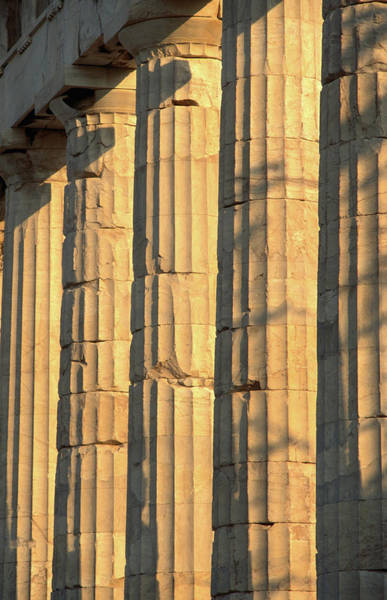 Ancient Greek Photograph - Columns Of The Parthenon, Considered by John Elk