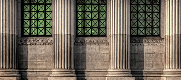 Symbolism Photograph - Columns On An Old Building by Thomas Winz