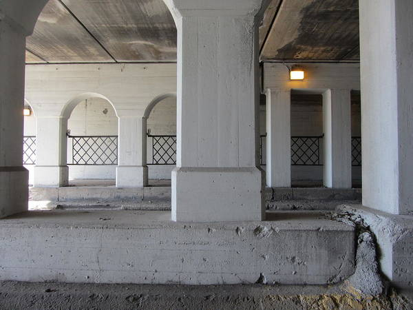 Photograph - Columns With Grids 2 by Anita Burgermeister