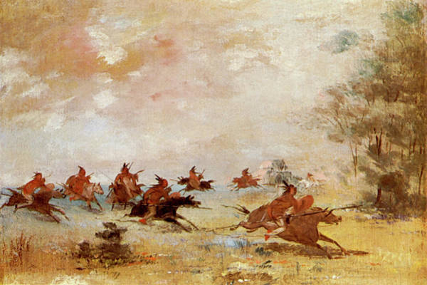 1837 Painting - Comanche War Party, 1837 by Granger