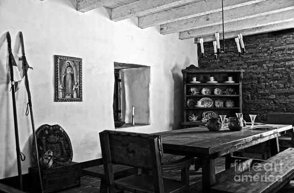 Photograph - Comandancia's Quarter In The Presidio Of Santa Barbara Bw by RicardMN Photography