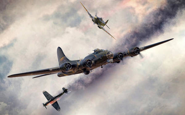 Battle Of Britain Digital Art - Combat Skies by Peter Chilelli