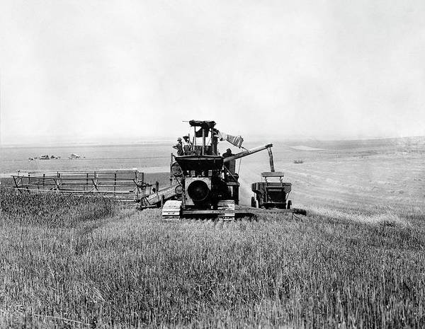 Wall Art - Photograph - Combine Harvester And Thresher by Library Of Congress/science Photo Library