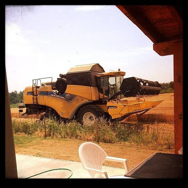 Vehicle Photograph - Combine Harvester by Candace Fowler