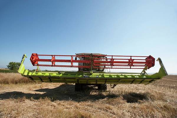 Wall Art - Photograph - Combine Harvester by Lewis Houghton/science Photo Library
