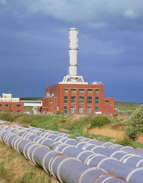 Fire Station Photograph - Combined Cycle Gas-fired Power Station by Martin Bond/science Photo Library