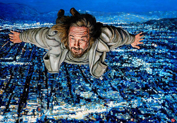 The Big Lebowski Painting - Come Fly With Me by Tom Roderick