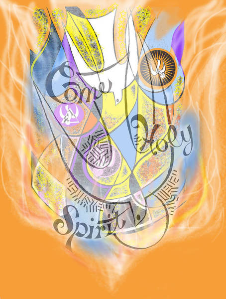 Digital Art - Come Holy Spirit Come by Anne Cameron Cutri