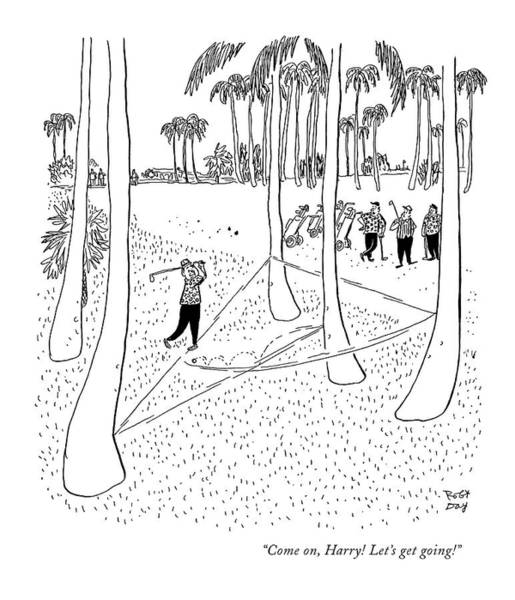 Angle Drawing - Come On, Harry! Let's Get Going! by Robert J. Day