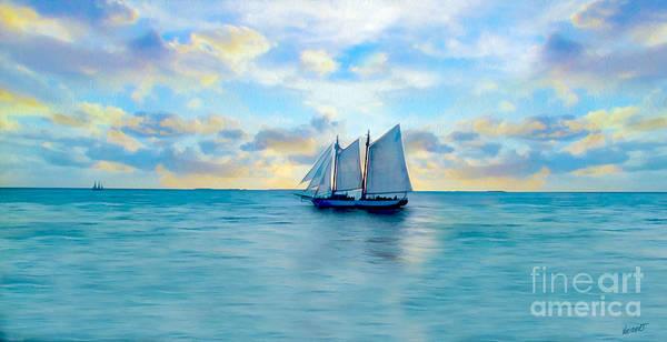 Sunset Mixed Media - Come Sail Away Painting by Jon Neidert