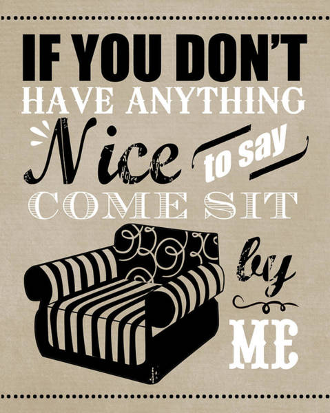 Wall Art - Painting - Come Sit By Me by Longfellow Designs