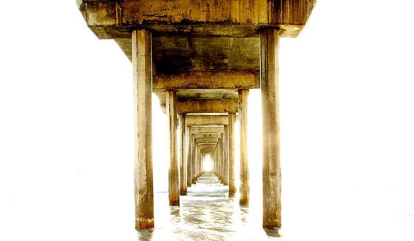 Scripps Pier Photograph - Scripps Pier Come To The Light by Dean Mayo