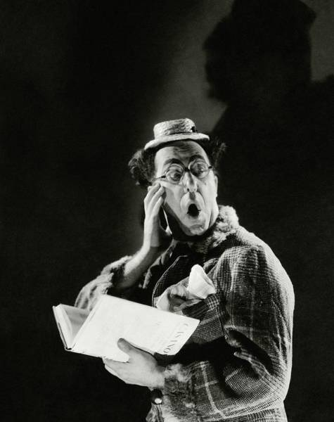 Copy Photograph - Comedian Ed Wynn Looking Shocked by Edward Steichen