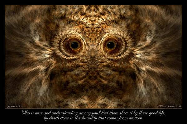 Comes From Wisdom Art Print