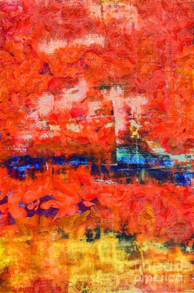 Oil Paint Photograph - Comes From Within Abstract by Edward Fielding