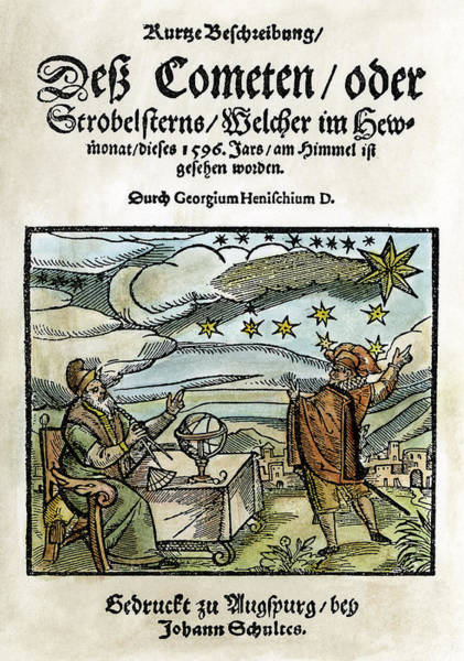 German Renaissance Drawing - Comet, 1596 by Granger