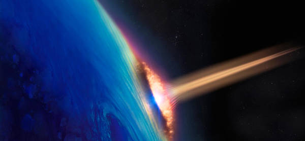 Satellite Image Wall Art - Photograph - Comet Crashing Into Earth by Panoramic Images