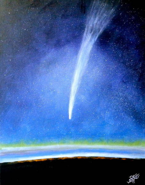 Painting - Comet by Dan Wagner