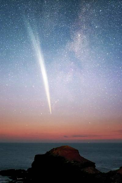 Wall Art - Photograph - Comet Lovejoy At Dawn by Alex Cherney, Terrastro.com