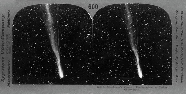 Stereogram Photograph - Comet Morehouse In 1908 by Us Naval Observatory/science Photo Library