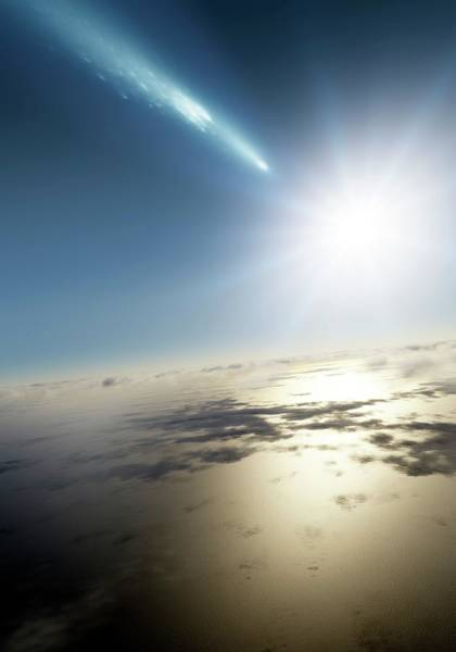 Wall Art - Photograph - Comet Over Earth by Detlev Van Ravenswaay