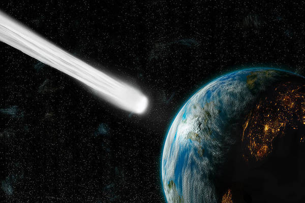 Photograph - Comet Strike3  by Marc Ward