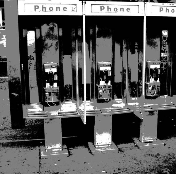 Comic Book Photograph - Comic Book Phone Booths by Dan Sproul