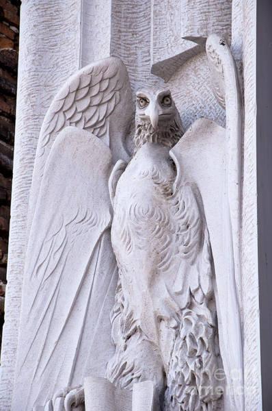 Photograph - Comical Eagle On Church Facade by Brenda Kean