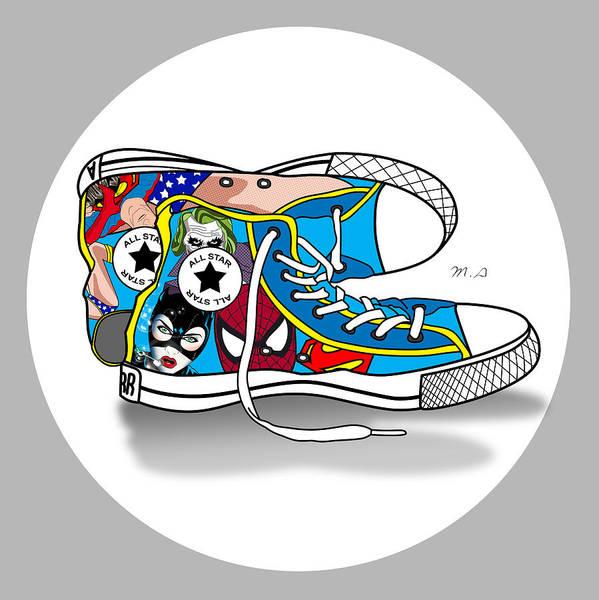 Cool Cat Digital Art - Comics Shoes 2 by Mark Ashkenazi