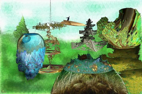 Fractal Landscape Digital Art - Coming Home by Bad Monkey