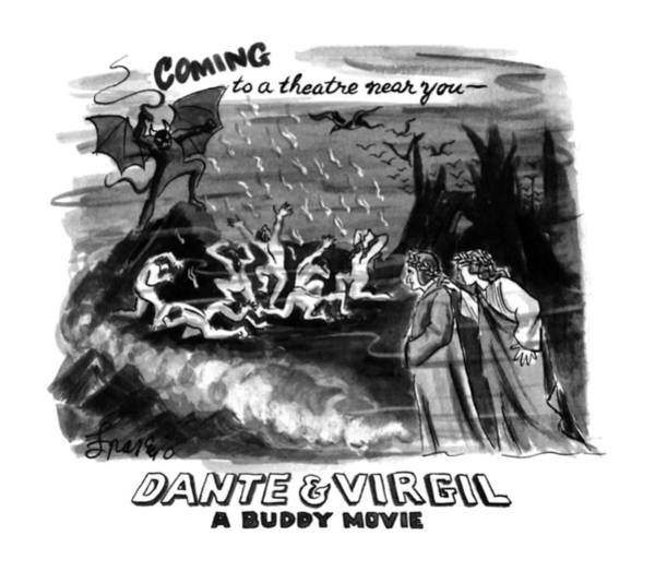 November 11th Drawing - Coming To A Theater Near You~ Dante & Virgil A by Edward Frascino