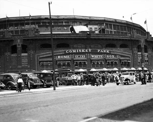 Wall Art - Photograph - Comiskey Park Looms by Retro Images Archive