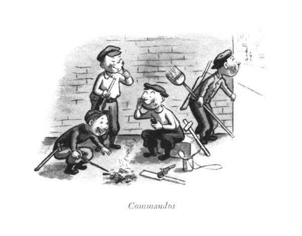 Wall Art - Drawing - Commandos by William Steig