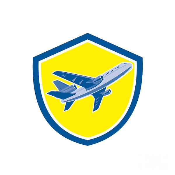 Wall Art - Digital Art - Commercial Airplane Jet Plane Airline Retro by Aloysius Patrimonio