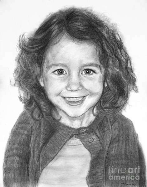 Drawing - Commissioned Child's Portrait by Kate Sumners