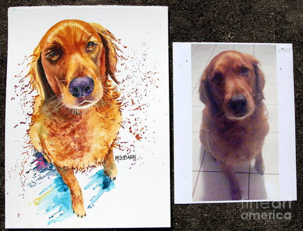 Painting - Commissioned Dog #1 by Maria Barry