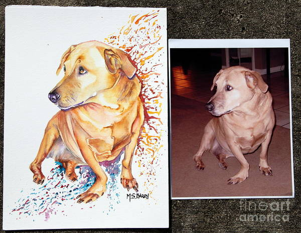 Painting - Commissioned Dog #2 by Maria Barry