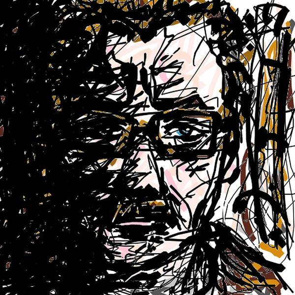 Digital Art - Commissioner Gordon by Rachel Scott