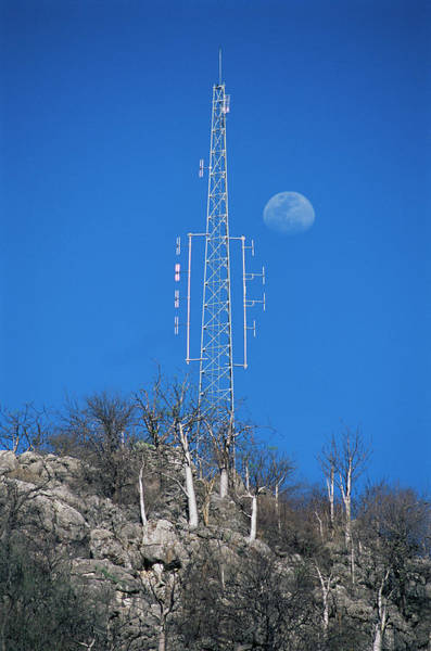 Wall Art - Photograph - Communications Mast by Sinclair Stammers/science Photo Library
